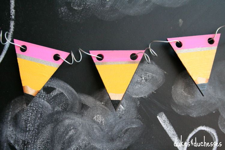 simple painted pencil garland