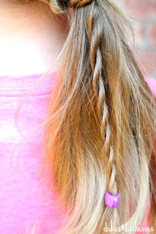 twist in ponytail with conair quick twist