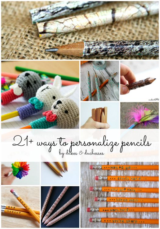 ways to personalize pencils