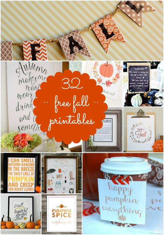 32 free fall printables