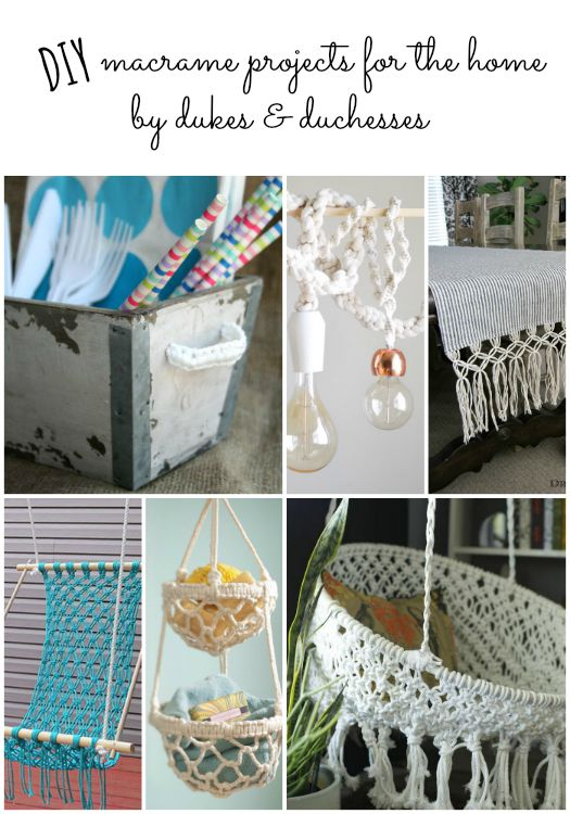 DIY macrame projects for the home