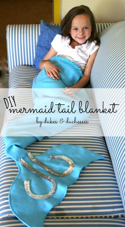DIY mermaid blanket