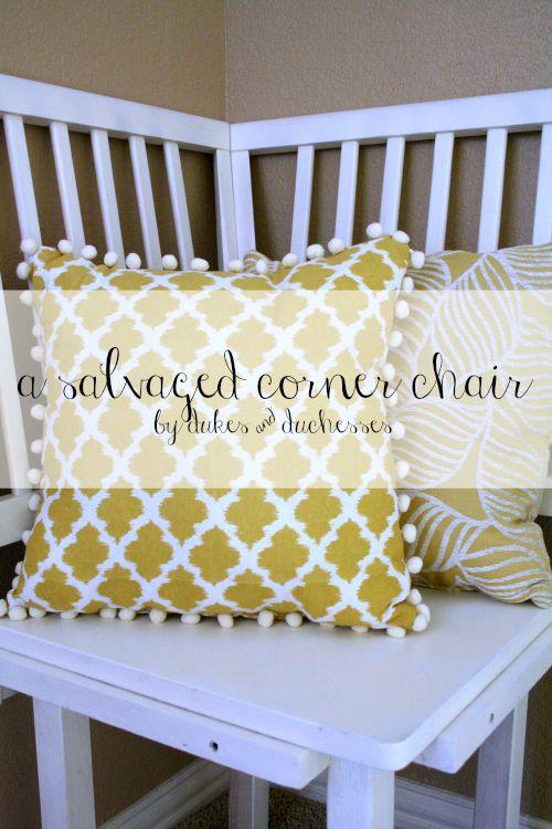 a salvaged corner chair