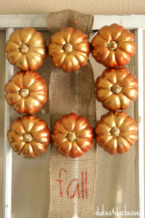 a square pumpkin wreath for fall