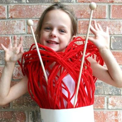 Skein of Yarn Halloween Costume