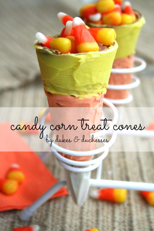 candy corn treat cones