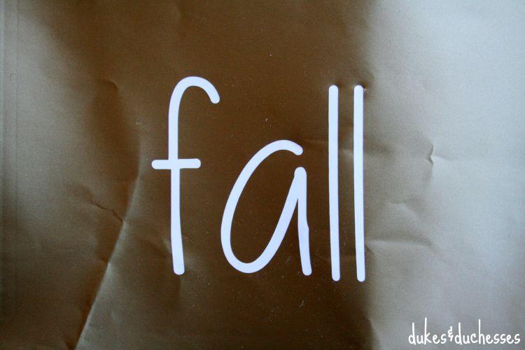 fall stencil