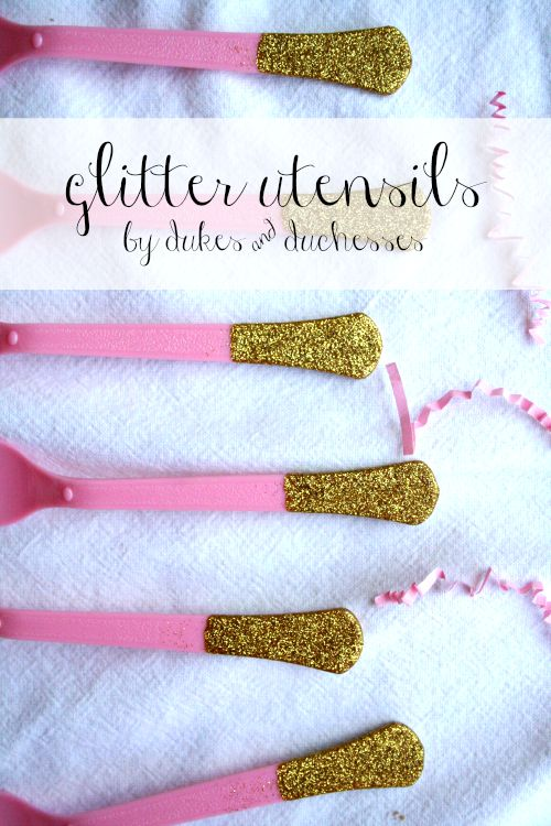 glitter utensils