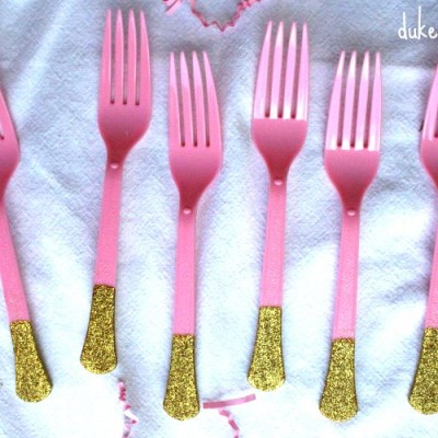 Glitter Utensils for a Party