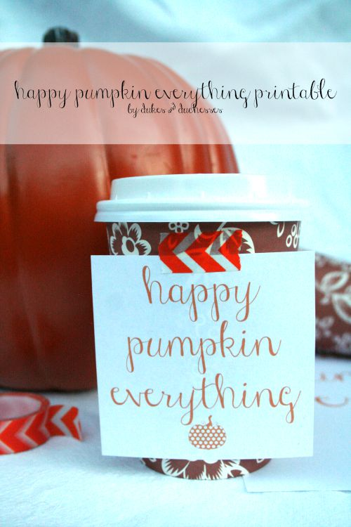 happy pumpkin everything printable