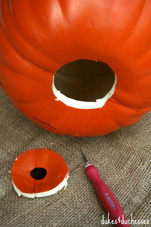 hole in pumpkin