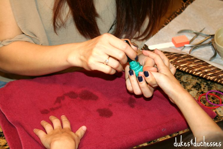 manicures for the girls