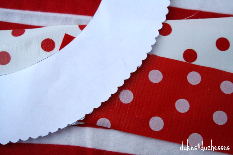 oilcloth and cupcake template