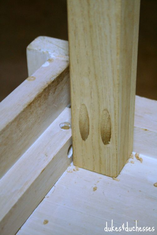 pocket holes for chair legs