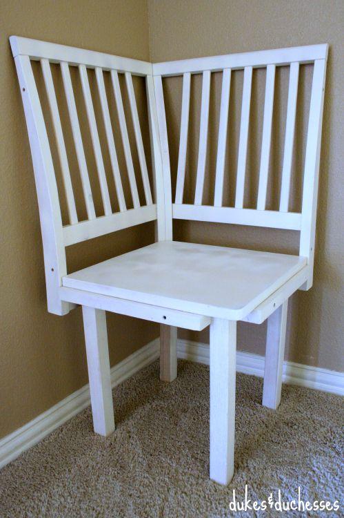 salvaged corner chair