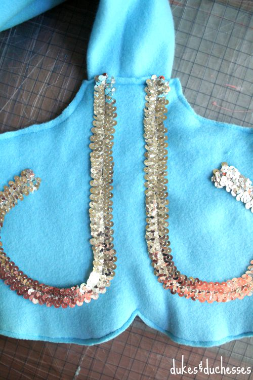 sequin trim on mermaid tail