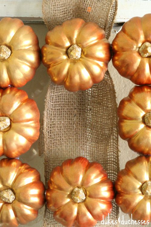 square pumpkin wreath