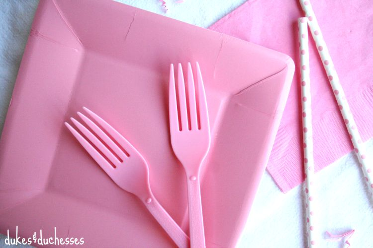 utensils for a party