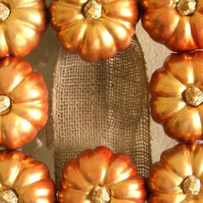 A Metallic Fall Wreath