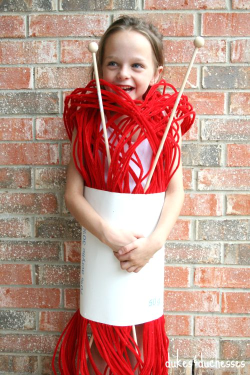 yarn costume for halloween
