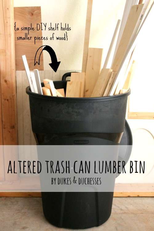 altered trash can lumber bin