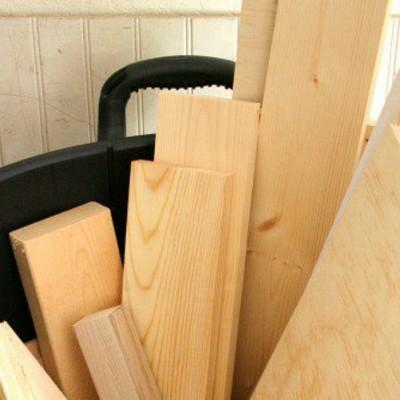 Altered Trash Can Lumber Bin
