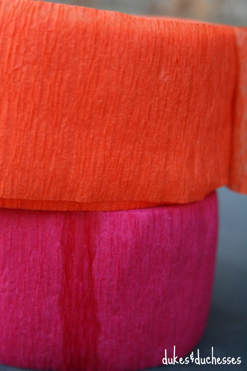 crepe paper streamers for DIY photo booth