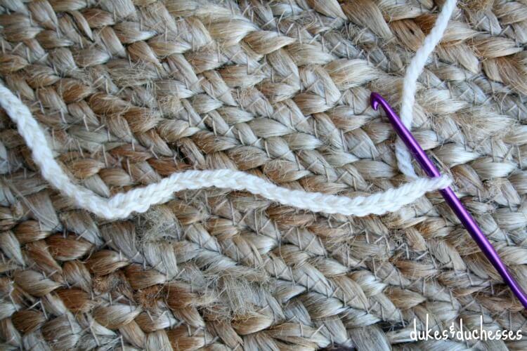 crochet single chain