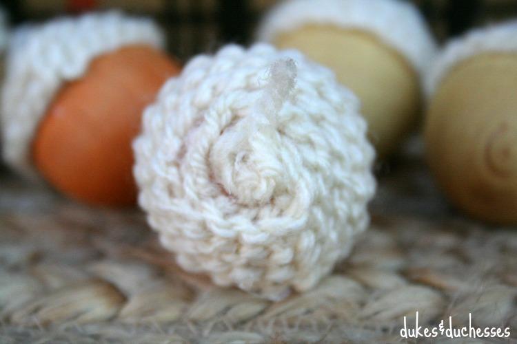 crochet top for faux acorns