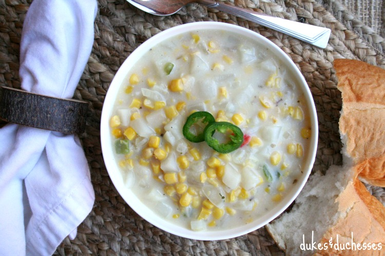 Easy Corn Chowder {Meatless and Dairy Free}