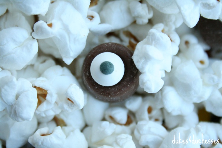 eyeball sprinkles in snack mix