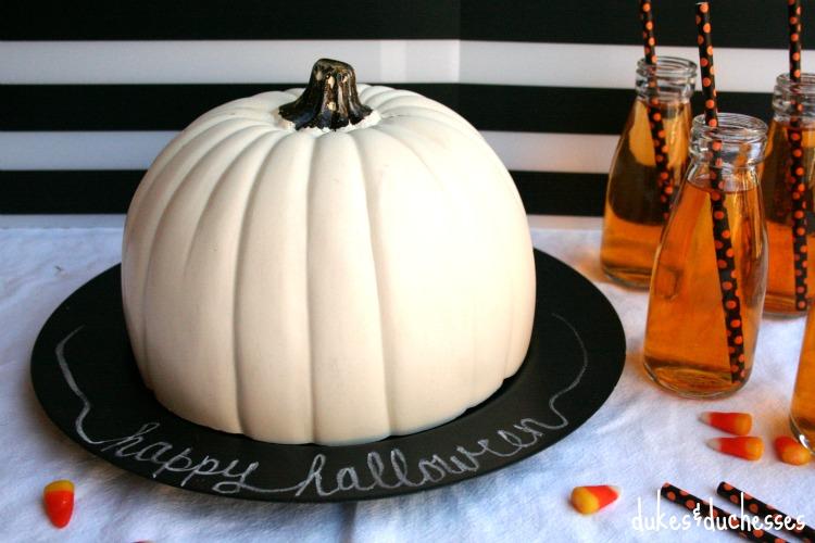 faux pumpkin cloche for halloween