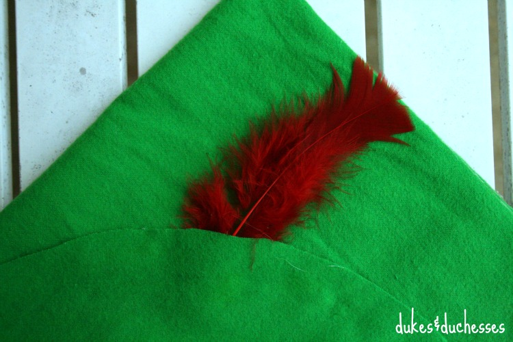 how to make a peter pan hat