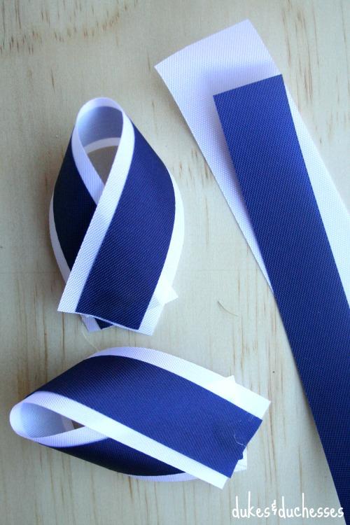 folded ribbon for homecoming mum