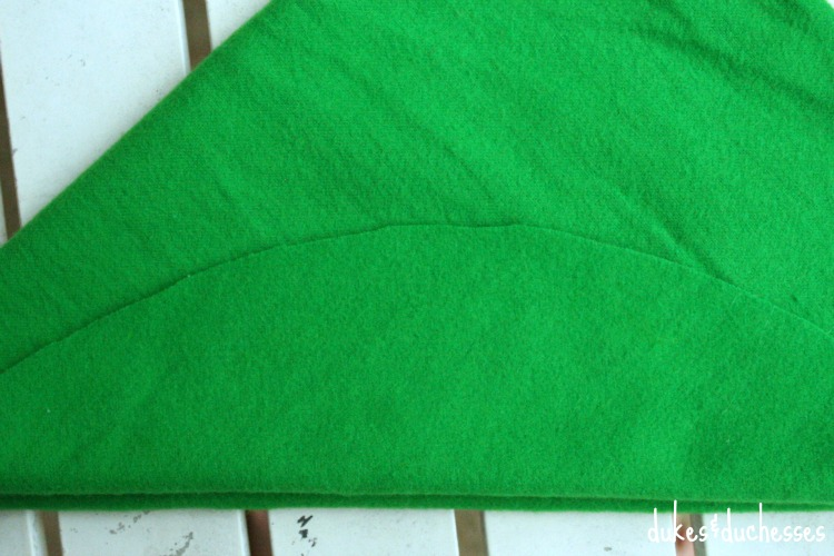 folded sides of peter pan hat