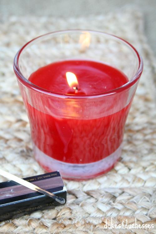 glade candle acorn box