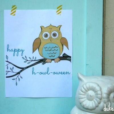 Happy H-owl-oween Printable