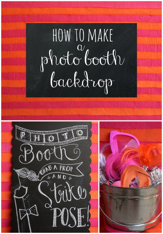 how to make a photo booth backdrop