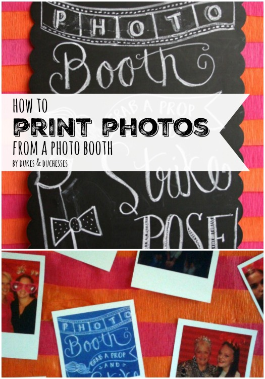 how to print photos from a photo booth