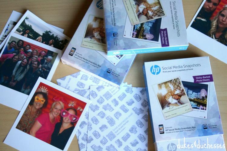 hp social media snapshots sticky backed photo sheets