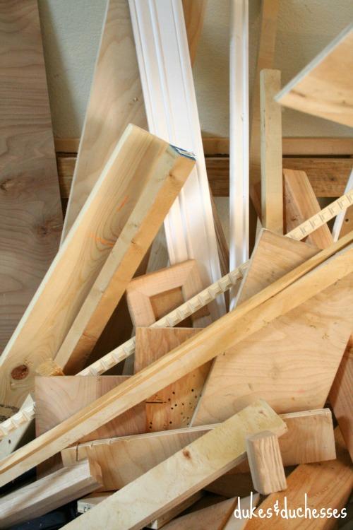 lumber stash in garage