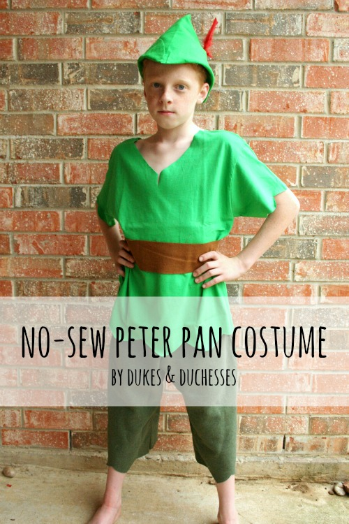 no sew peter pan costume