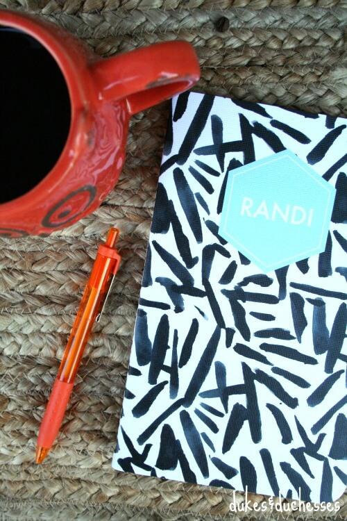 personalized notebook fall acorn box