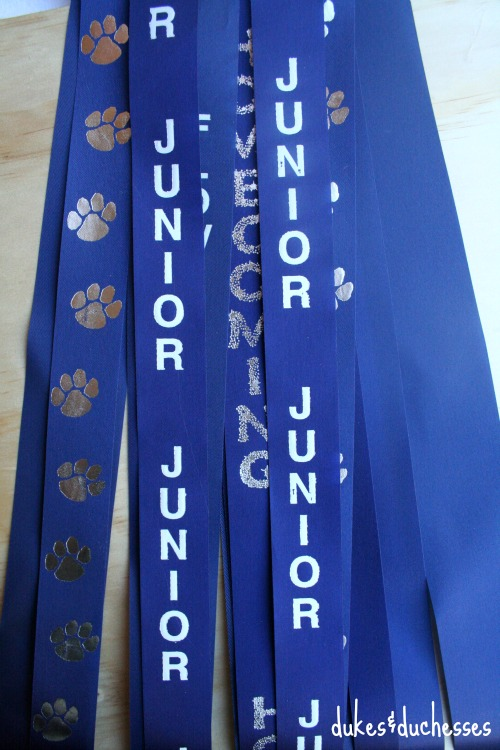personalized ribbons on homecoming mum