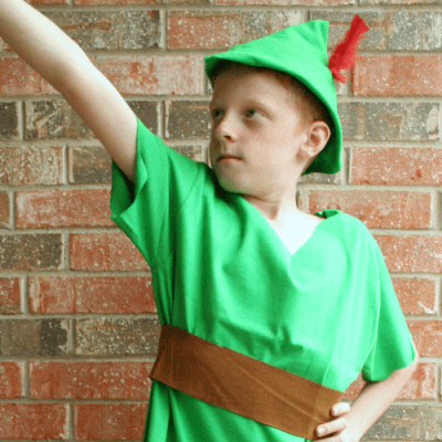 No-Sew Peter Pan Costume