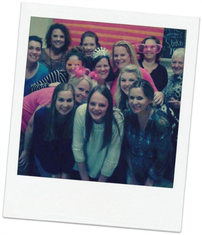 polaroid group photo