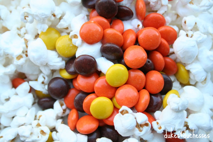 reese's pieces in snack mix