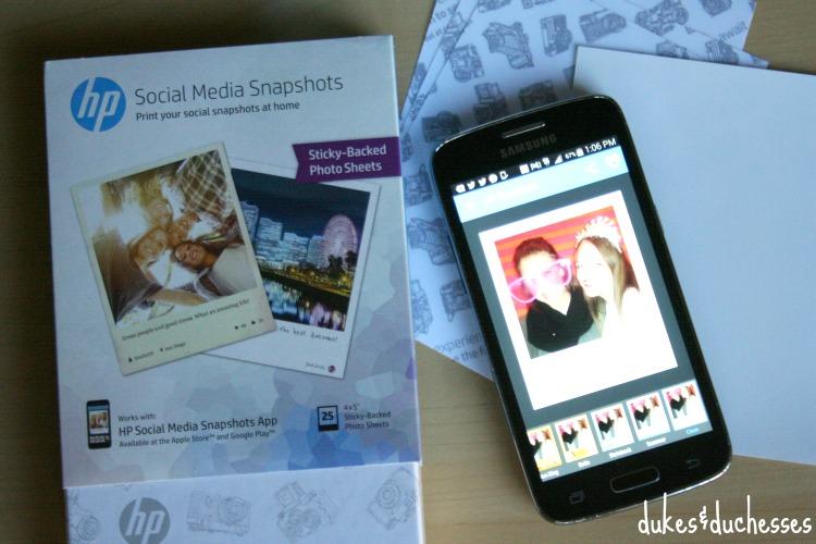 using hp social media snapshots paper