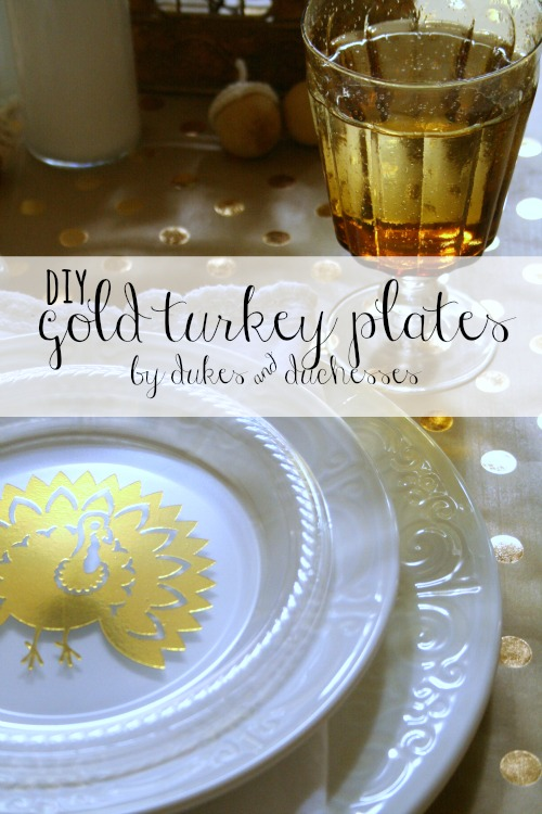 DIY gold turkey plates