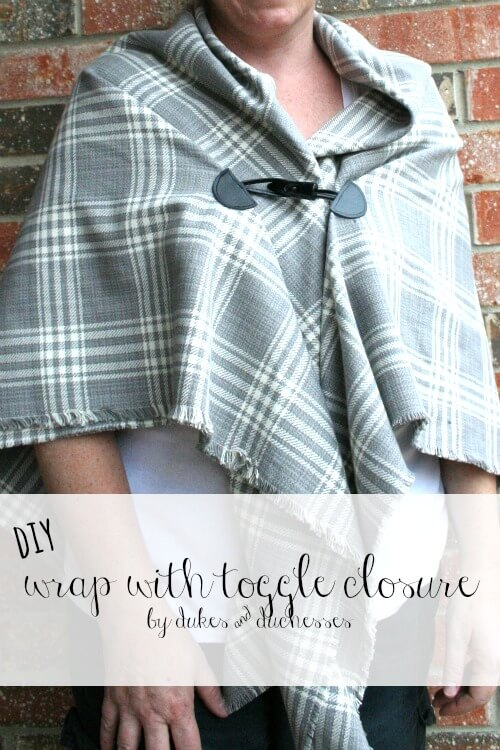 DIY wrap with toggle closure